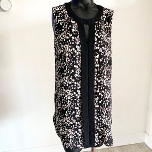 Vince Camuto Placket Front Sleeveless Tunic, Sz S